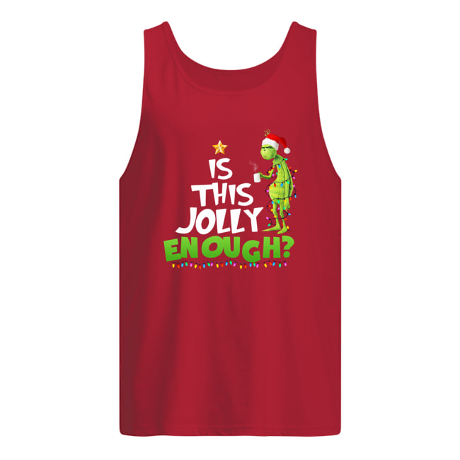 Christmas Grinch is this jolly enough tank top