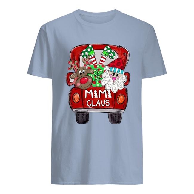 Christmas truck Santa claus mimi claus mens shirt