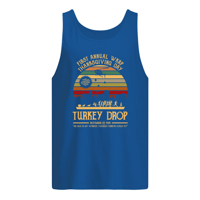 First annual Wkrp thanksgiving day turkey drop novemver 22 1978 tank top
