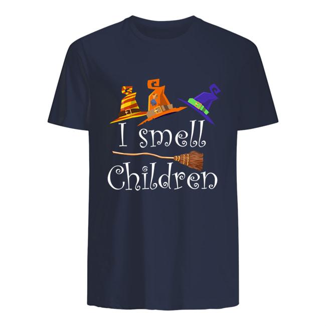 Halloween witch i smell children mens shirt