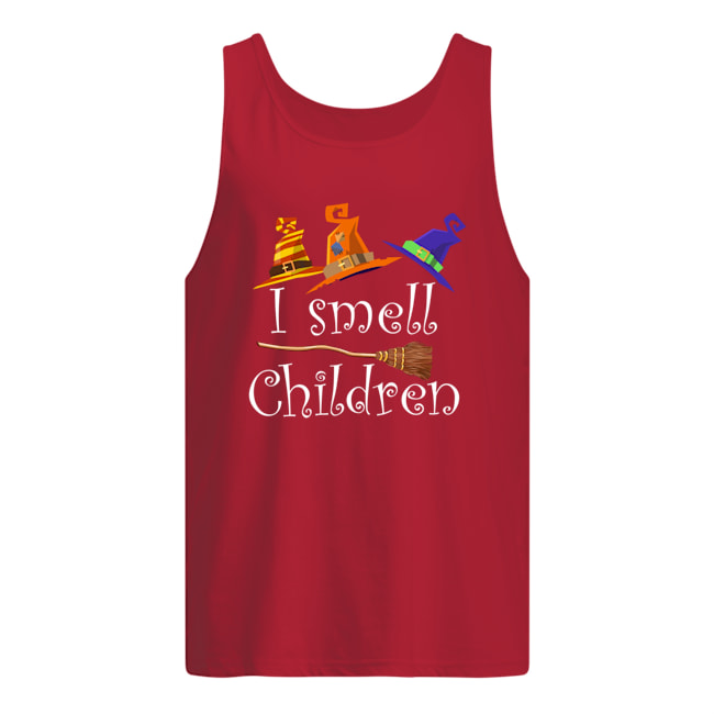 Halloween witch i smell children tank top