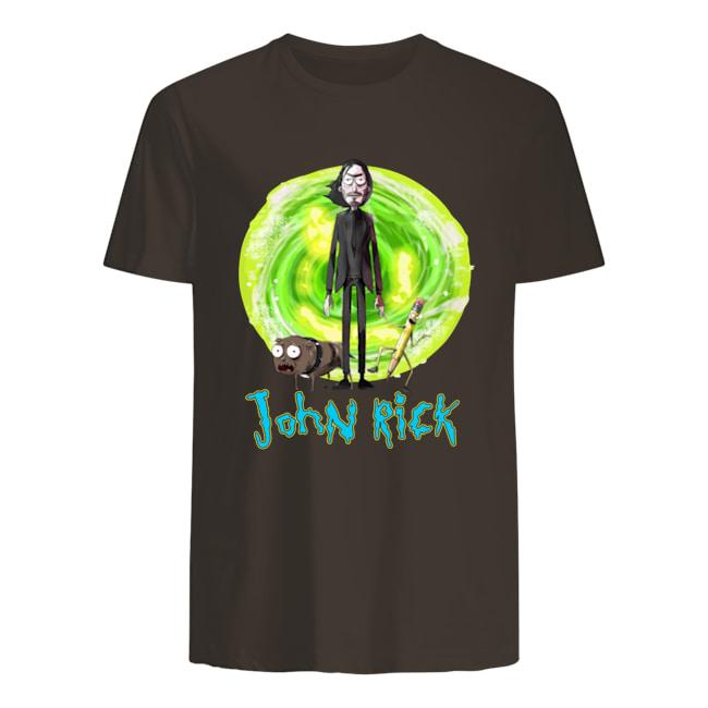 John Wick Rick and Morty John Rick mens shirt