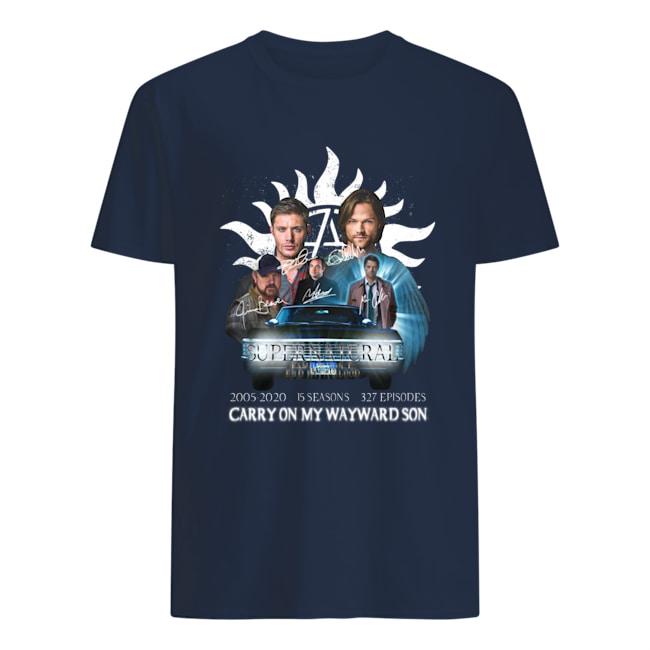 Supernatural 2005 2020 carry on my wayward son shirt