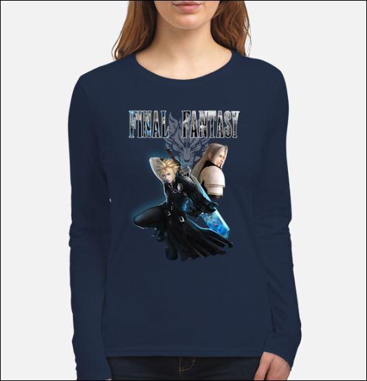 Bestseller Final Fantasy Cloud Strife and Sephiroth shirt