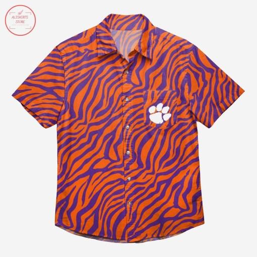 Clemson Tigers Thematic Hawaiian Shirt