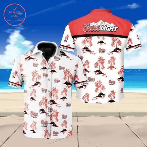 Coors Light Hawaiian Shirt Summer Button Up