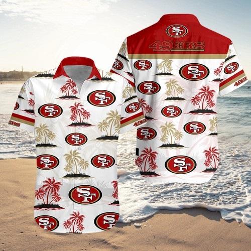 San Francisco 49ers Hawaiian 3D Shirts