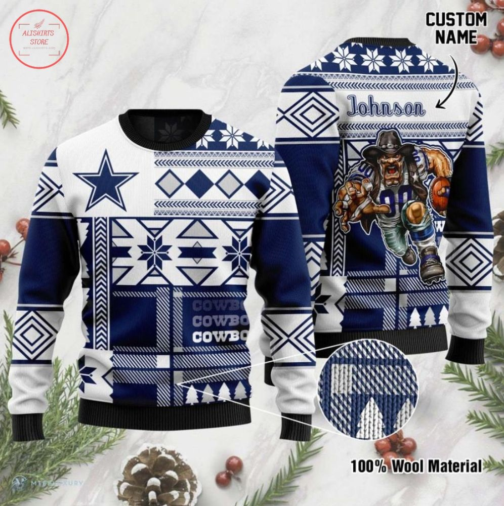 NFL Cowboys Dallas Personalized Ugly Christmas Sweater