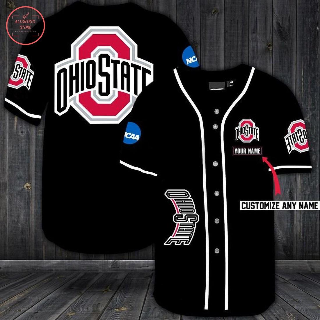 Ohio State Buckeyes Personalized Baseball Jersey