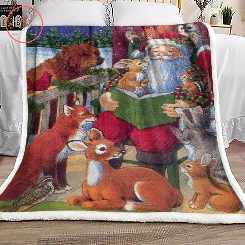 Christmas Santa Claus Rabbit Blanket